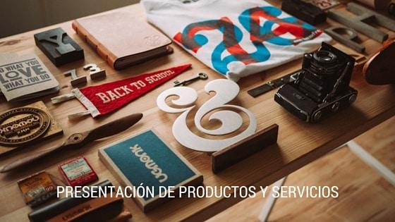 Presentación de productos y servicios en vídeo